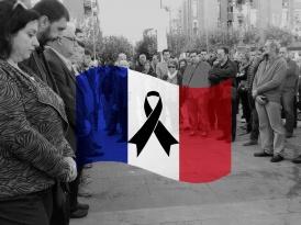 Minut de silenci per les victimes de París