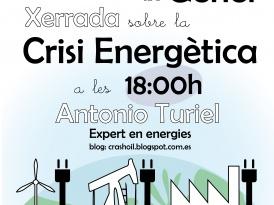 Xerrada sobre la crisi energètica el dia 21 de Gener a les 18:00h